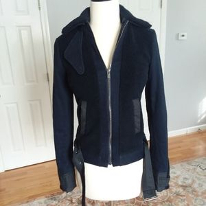 Lacoste Navy Galaxie moto jacket